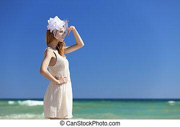花嫁, 浜, 若い