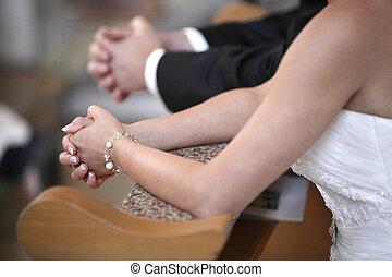 花嫁, 祈ること, 花婿