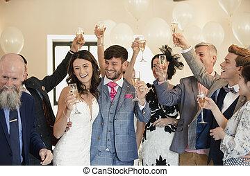 花嫁, 花婿, ゲスト, ダンス