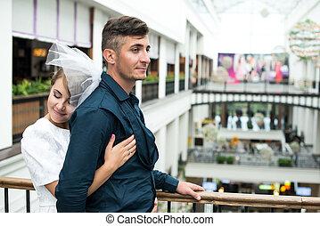 花嫁, 花婿, ショッピングセンター