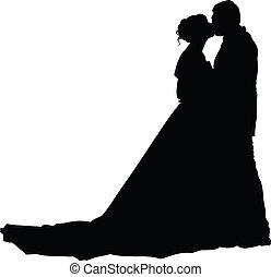 花嫁, 花婿, シルエット