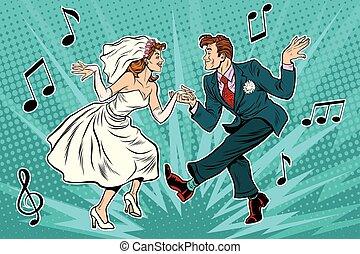 花嫁, 花婿, ダンス