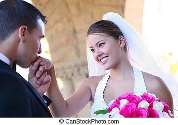 花嫁, 花婿, 結婚式