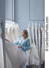 花嫁, 魅力的, 服, 結婚式
