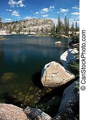 花岗岩, 湖, 天空