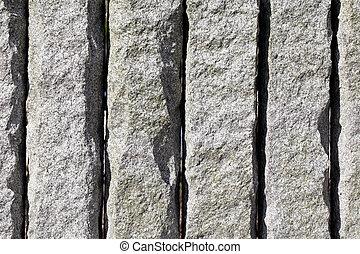 花崗岩, 石頭牆