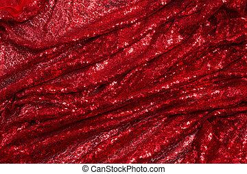 花弁, ひだのある布, 生地, 赤, 明るい