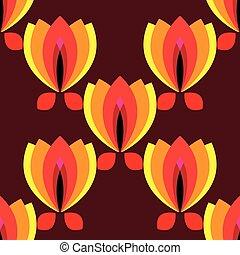 花弁, ブラウン, 花, 背景 パターン