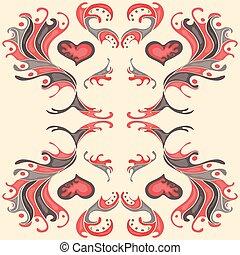 花弁, 壁紙, 赤