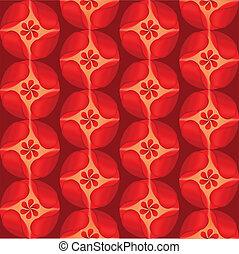 花弁, 花, 赤い背景