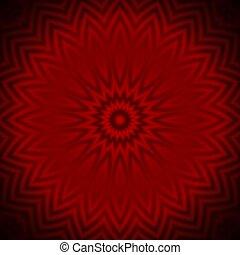 花弁, 赤い背景