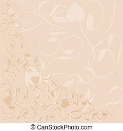花木型, フレーム, ベクトル, 背景, 旗