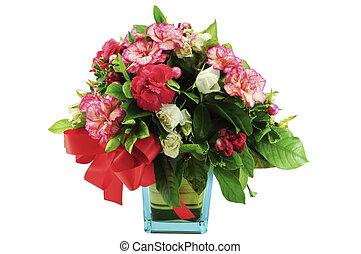 花束, の, カラフルな花