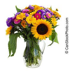 花束, の, 混ぜられた, 秋, 花