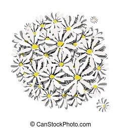 花束, デザイン, あなたの, camomiles