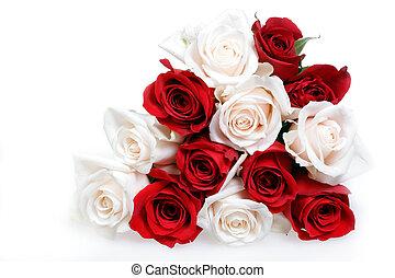 花束, バラ
