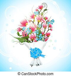 花束, モクレン, 花