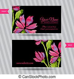 花束, 優雅である, 花, カード, ビジネス
