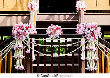 花束, 庭, 結婚式