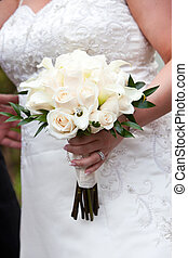 花束, 白い結婚式