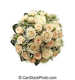 花束, 白, 隔離された, 結婚式