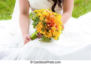 花束, 花嫁, 保有物, 結婚式