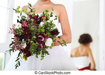 花束, 花嫁, 手, 結婚式