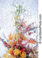 花束, 花, デリケートである, 氷