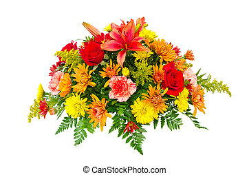 花束, 花, 鮮艷, 安排
