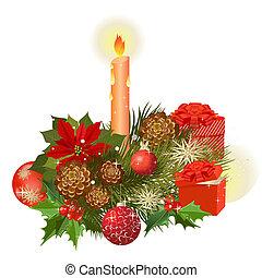 花束, 贈り物, 花, デザイナー, クリスマス