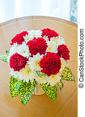 花束, 赤, カーネーション