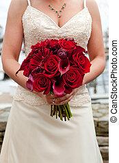 花束, 赤, 結婚式