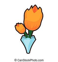 花束, 郁金香, 花, 圖像