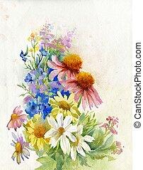 花束, 野生の花