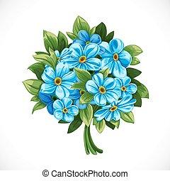 花束, 青, 忘れな草