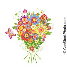 花束, 面白い, 挨拶