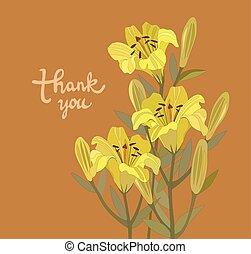 花束, lilies.