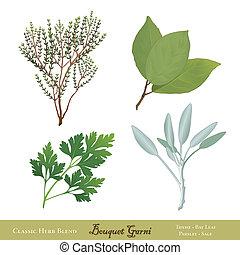 花束garni, 法語, 藥草, 混合