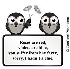 花粉症, 詩
