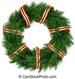花輪, クリスマス, 隔離された