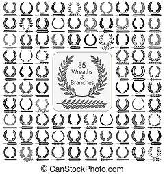 花輪, セット, 85, branches.