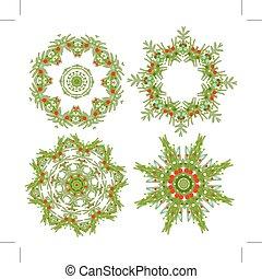花輪, デザインを設定しなさい, あなたの, クリスマス