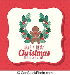 花輪, デザイン, 陽気, coockie, クリスマス