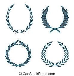 花輪, ベクトル, セット