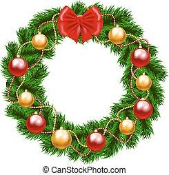 花輪, モミツリー, クリスマス