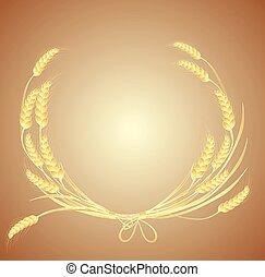 花輪, 小麦
