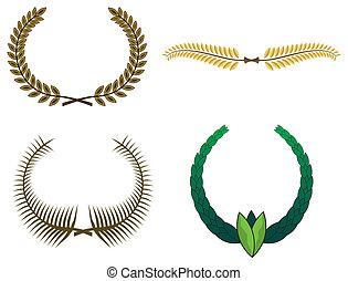 花輪, 月桂樹, デザインを設定しなさい