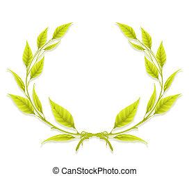 花輪, 月桂樹, デザイン要素