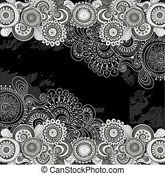 花, いたずら書き, 抽象的, パターン, paisley.
