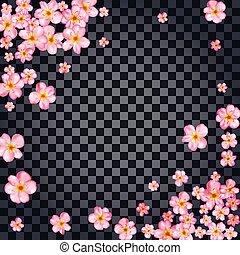 花, さくらんぼ, 抽象的, 背景